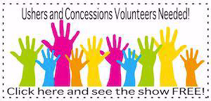 Ushers Concessions Volunteer Sign