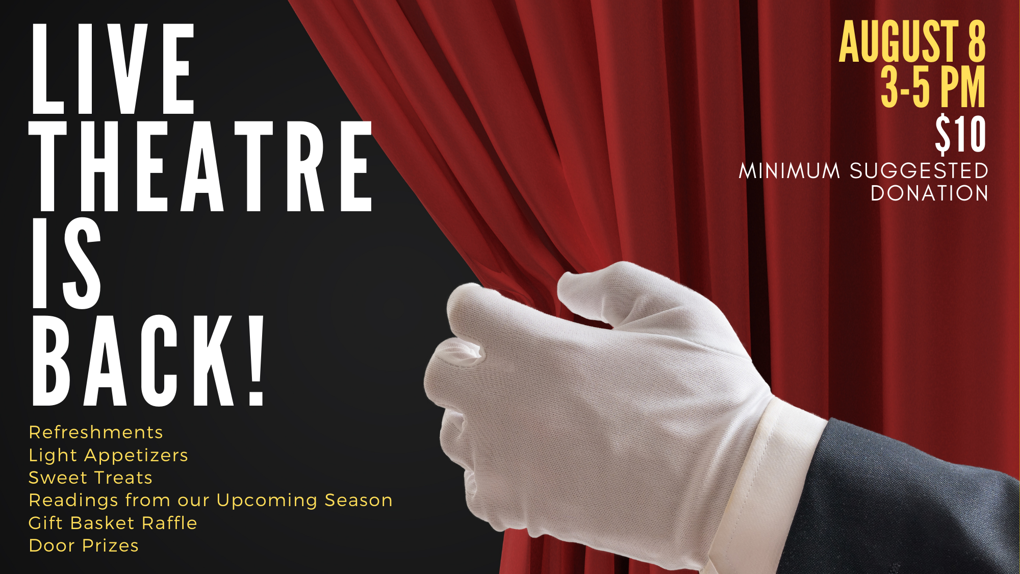 Live Theatre Is Back Fundraiser